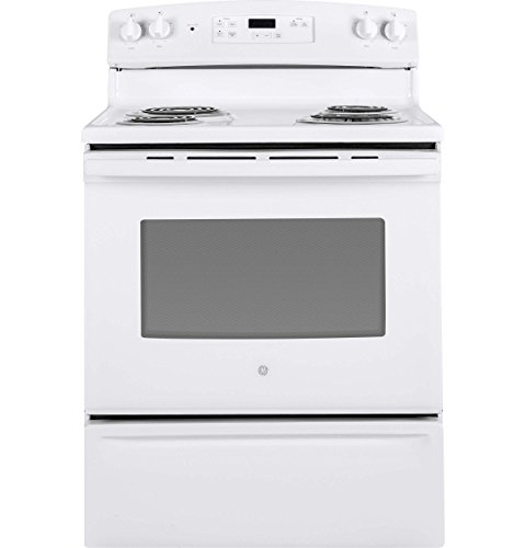 Price comparison product image GE JBS30DKWW 30 Inch Freestanding Electric Range with 4 Coil Elements,  5 cu. ft. Primary Oven Capacity,  in White