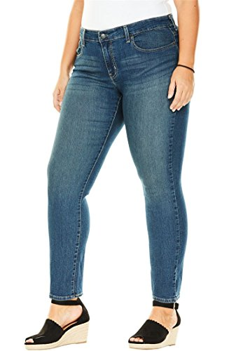 Stylish Plus Size Jeans - Women's Plus Size Simply Stretch Straight-Leg Jeans Signature by Levi Strauss &