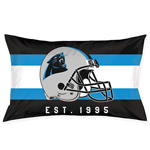 Marrytiny Custom Rectangular Pillowcase Colorful Carolina Panthers American Football Team Bedding Pillow Covers Pillow Cases for Sofa Bedroom Bedding Car Home Decorative - 20x30 Inches
