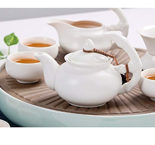Chuangrong Porcelain Tea Sets Portable Ceramic Teapot Chinese Gift Tea Set of 13 Gift Box for Business Friend Adult Men by Chuangrong (Image #2)