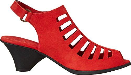 Arche Femme Exor Open-toe Pompe Feu (feu Rouge)