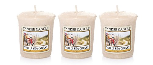 Lot of 3 Yankee Candle WILD SEA GRASS Sampler® Votive Candles 1.75 oz