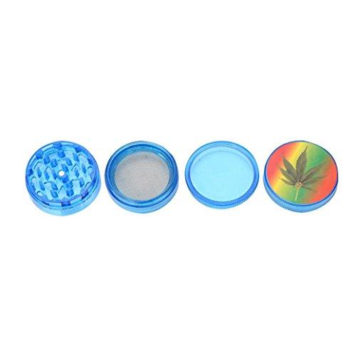 WensLTD 4-Layer Plastic Tobacco Herb Grinder Spice Crusher Grinder, Color Random (Blue) by WensLTD (Image #4)