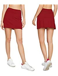 Women's Casual Pleated Golf Skirt with Underneath Shorts...