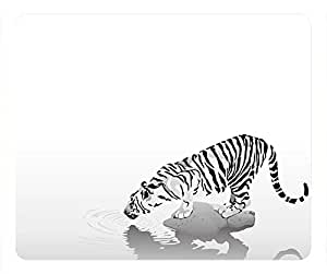 Traditional Tiger Design Rectangular Mouse Pad Drink Water