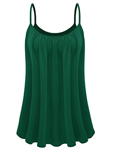 7th Element St Patrick's Day Womens Plus Size Cami Basic Camisole Tank Top (Dark Green,XL) -