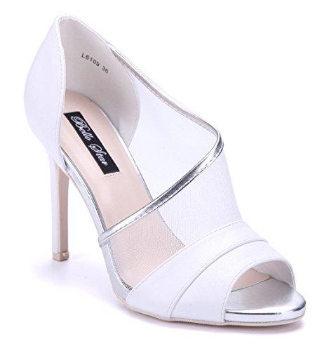 Schuhtempel24 Damen Schuhe Peeptoes Pumps Stiletto 10 cm High Heels