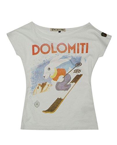 D Blanco Camiseta Para t l Mujer m z8xqz1wa