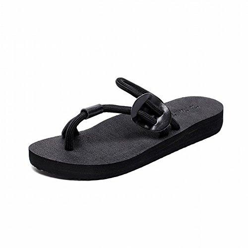 Estate Donna Maschile Da nero Casual Indossando Coppia Antiscivolo 38 Infradito Sandali Pantofole Piatte rBxvqwrS