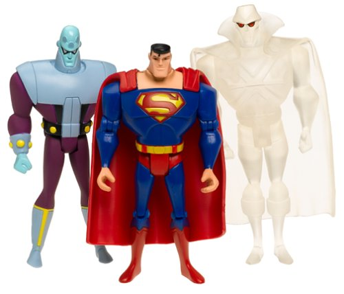 - Justice League Unlimited 3-Pack: Clear Martian Manhunter, Brainiac and Superman
