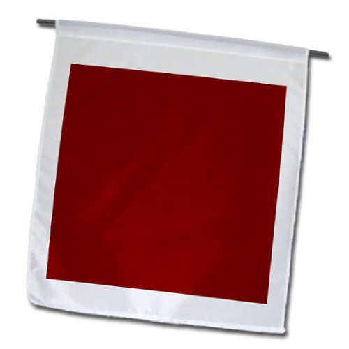 3dRose fl_159880_1 Burgundy Red-Dark Maroon Russet Fire-Brick Dark-Barn Red-Brown-Plain Simple Solid Color Garden Flag, 12 by 18-Inch