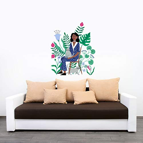 Kismet DECALS Cat Lady Interior Decor Art Sticker Decal by Holly Maguire