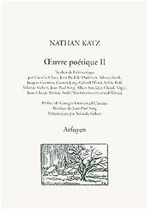 """Afficher """"OEuvre poétique / Nathan Katz. n° 2 OEuvre poétique"""""""