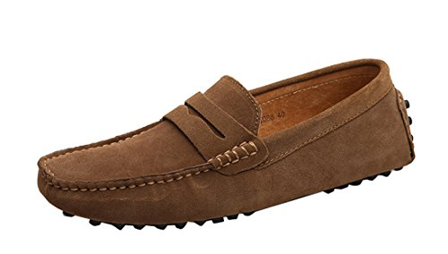 Moccasin Brown Mens Shoes TDA Loafers Multi Boat Stripe Hot Suede Color ZYPvFWH4Pq