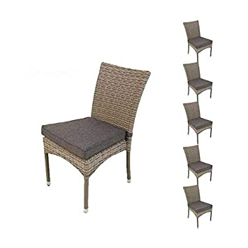 Pack 6 sillas para jardín apilables | Tamaño: 45x55x87 cm ...