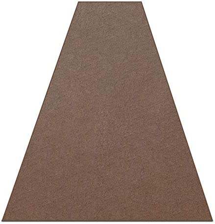 Coffee Brown 25 oz Area Rug Available in Multiple Shapes and Custom Sizes. 100 Solution Dyed BCF Polyester Fibers. Great for Apartments, Renters, Bedrooms, Living Rooms, Dorms, etc. 4 x 13