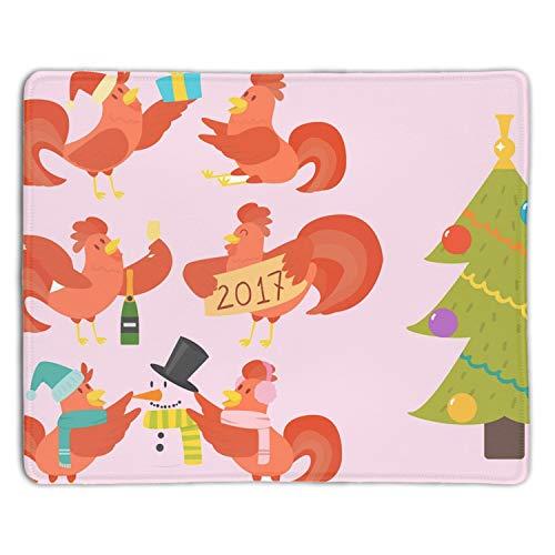 Cute Cartoon Rooster Chicken Mouse Pad Non-Slip Rubber Base Mousepad Mat for Laptop Desktop]()