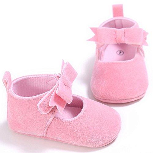 Tefamote Zapatos Botines de Suela Blanda Cuna Ocio Antideslizante Para Bebé Recién Nacido Niño niña Rosa