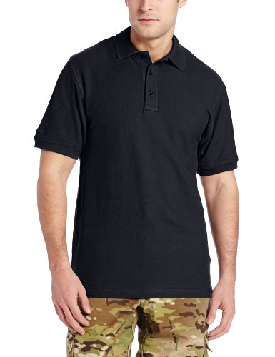 TRU-SPEC Men's 24-7 Classic Cotton Short Sleeve Polo Shirt, Navy, - Discount Law Enforcement Sunglasses