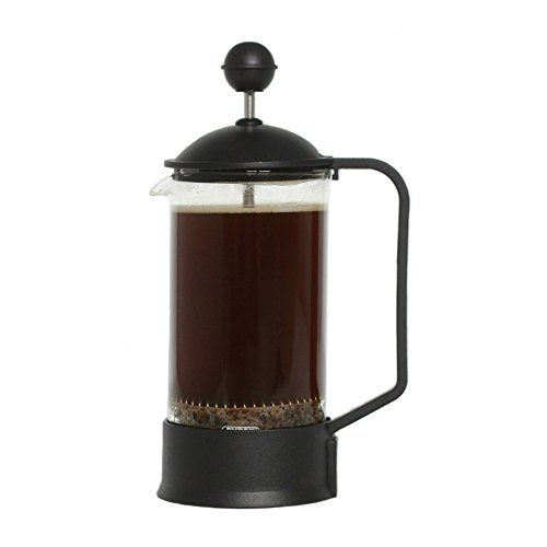 Brillante Small French Press Coffee Maker with 12 Ounce / 3 Cup Glass Beaker - Single Serve Coffee and Tea Maker BR-CP2-350