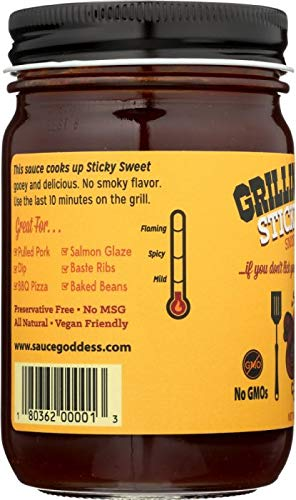 Amazon.com : SAUCE GODDESS Sauce Sweet Smoke Free BBQ, 15 oz 6PK : Grocery & Gourmet Food