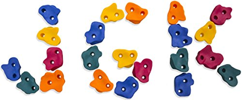 Jungle Gym Kingdom Kids Extra Large Rock Climbing Holds (Plastic Rock Holds)