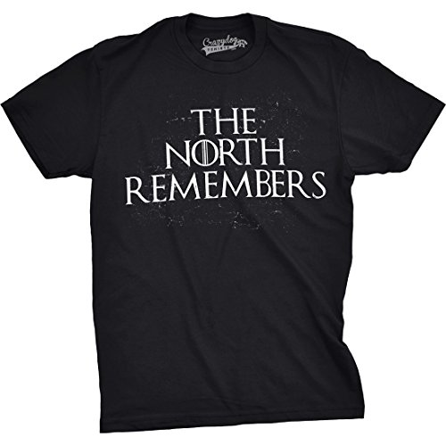 Crazy Dog TShirts - Mens The North Remembers Funny T shirts Cool Winter Christmas Novelty T shirt - herren -