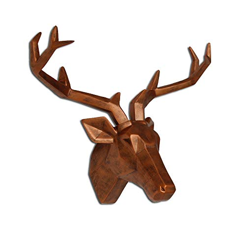 wall decor resin deer - 5