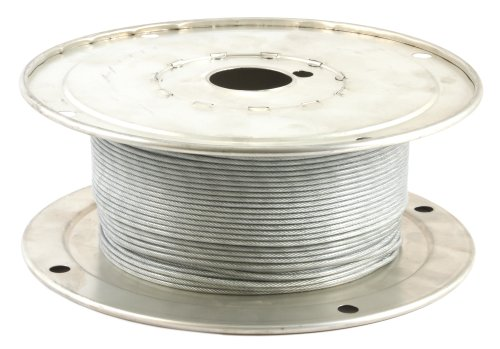 Forney 70450 Wire Rope, Vinyl Coated Aircraft Cable, 500-Feet-by-1/16-Inch thru 3/32-Inch ()