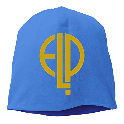 - Emerson Lake and Palmer Cotton Polyester Beanie Hat Unisex Cool Ski Hat Hedging Cap Blue