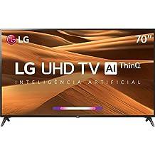 Smart TV LED 70 UHD 4K LG 70UM7370 ThinQ AI HDR Ativo WebOS 4.5 DTS Virtual X , em breve com Alexa Integrada