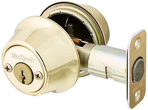 Brass Polo Double Cylinder - Kwikset 695 Polo Entry Knob and Double Cylinder Deadbolt Combo Pack in Polished Brass