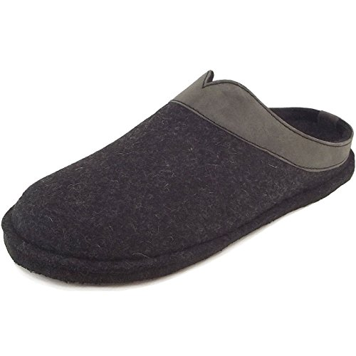 Haflinger Schuhe Damen Herren Hausschuhe Pantoffeln Wollfilz Flair Top 313042 Graphit