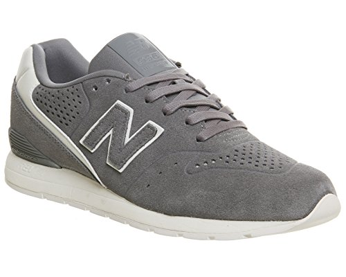 New Balance 996 Leather, Zapatillas para Hombre Gris (Grey/white)