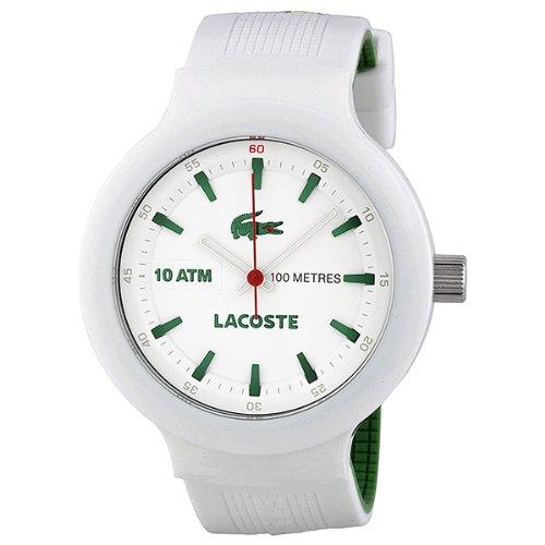 Lacoste 2010661 - Reloj para hombres, correa de acero inoxidable color blanco: Amazon.es: Relojes