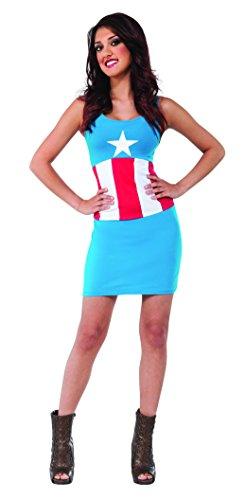 Rubies Womens Marvel Universe Adult American Dream Tank Dress, Multi, Small