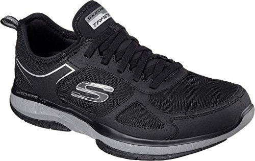 Skechers Burst TR Mens Trainers Sneaker (Black/Charcoal, Size 11.5) For Sale