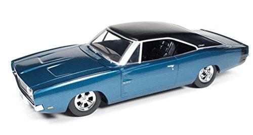 1969 Dodge Charger 500 Custom Blau Poly blau 1:24 Auto World Ertl AW24005