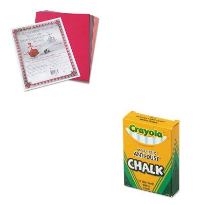 Non Toxic Anti Dust Chalk - KITCYO501402PAC103637 - Value Kit - Crayola Nontoxic Anti-Dust Chalk (CYO501402) and Pacon Riverside Construction Paper (PAC103637)