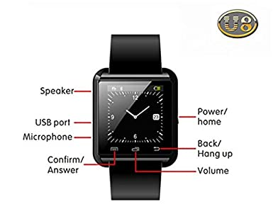 Amazon.com: 100% Original U8 Smart Bluetooth Wrist Watch Fashion ...