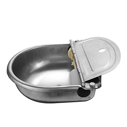 ~ 304 Stainless Steel Automatic Float Water Pet Bowl for Horse Cow Dog Sheep Goat Dispenser Bowl Drinking Farm Cow Animal Watering System Equipment Tools