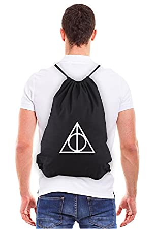 Deathly Hallows Harry Potter Eco-Friendly Reusable Canvas Draw String Bag