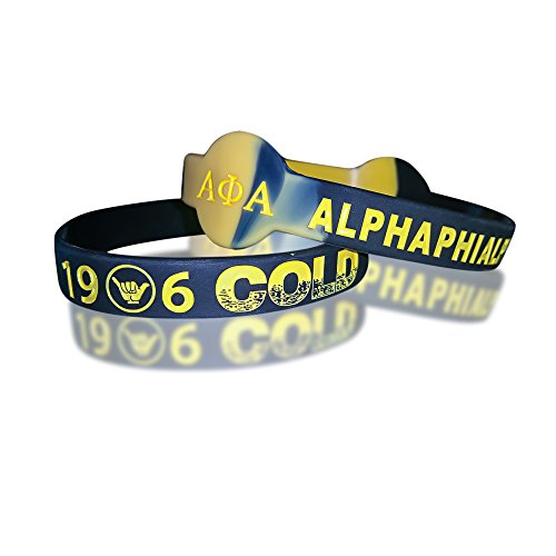 Alpha Phi Alpha Fraternity Silicone Bracelets (2 Bracelets per - Alpha Frame