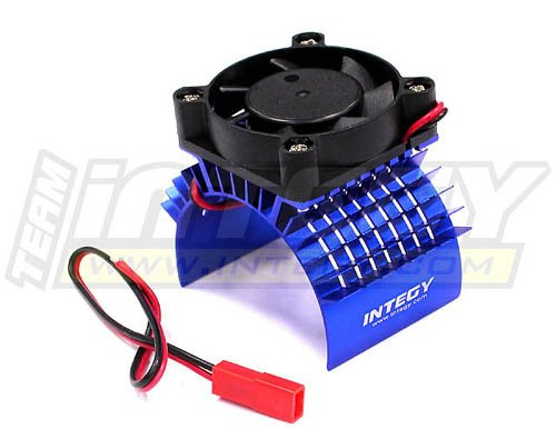 Integy RC Model Hop-ups C23138BLUE Super Motor Heatsink+Cooling Fan 750 for Traxxas (Fan Cool Motor Heatsink)