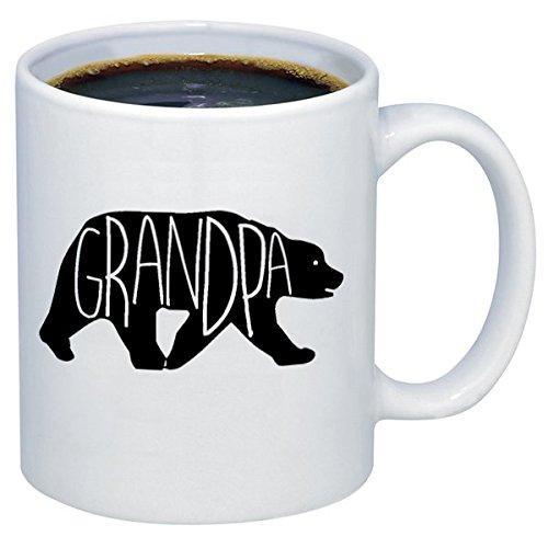 Grandpa Bear Happy Father's Day Gift for Grandpa Ceramic Coffee Mugs M313 (11 oz.)