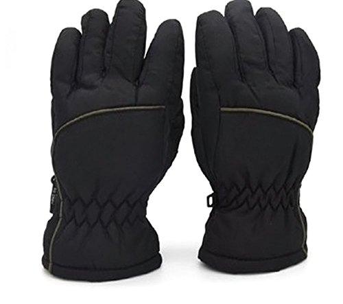 Price comparison product image Kids Waterproof 3M Thinsulate Ski Gloves with Anti-slip Palm Age 4-12+ (7-12 yrs, G6)