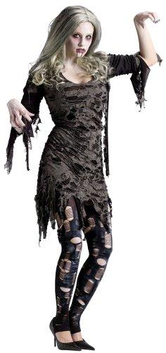 Living Dead Child Costumes (Fun World Women's Living Dead Costume, Multicolored, 10-14 Medium/Large)