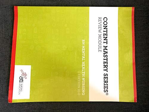 Rn Series - Content Mastery Series RN mental health nursing Edition 10.0 9781565335707
