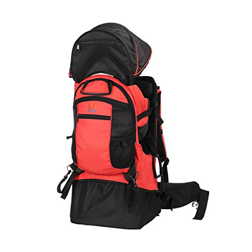 TeckCool_Store Baby Carrier, TECKCOOL Baby Toddler Hiking Backpack Carrier w/Rain cover Child Kid Sun/canopy Shield A+, Holds up to 50 Pound Ideal for Children Between 6 months-4years old (red)