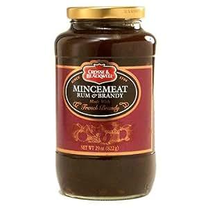 Crosse & Blackwell Mincemeat, Rum & Brandy: Two 29 oz jars